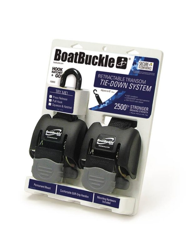 Kit di 2 cricchetti BoatBuckle di fissaggio imbarcazione su carrello da 2500lbs cadauno