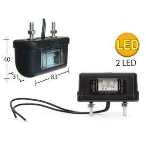 FANALE TARGA LED 12/24 2 LED
